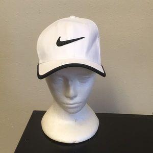 ✅ NIKE Dri-Fit Classic 99 White Swoosh Logo Hat ✅